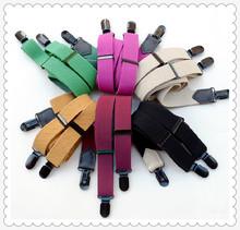women colorful elastic clips braces suspender