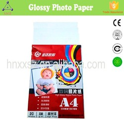 Factory Supply! High Glossy 115~300g Thermal Adhesive Single Double Side Inkjet Photo Picture Paper