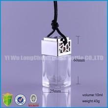 10ml korean style silver air freshener car liquid refillable perfume bottles