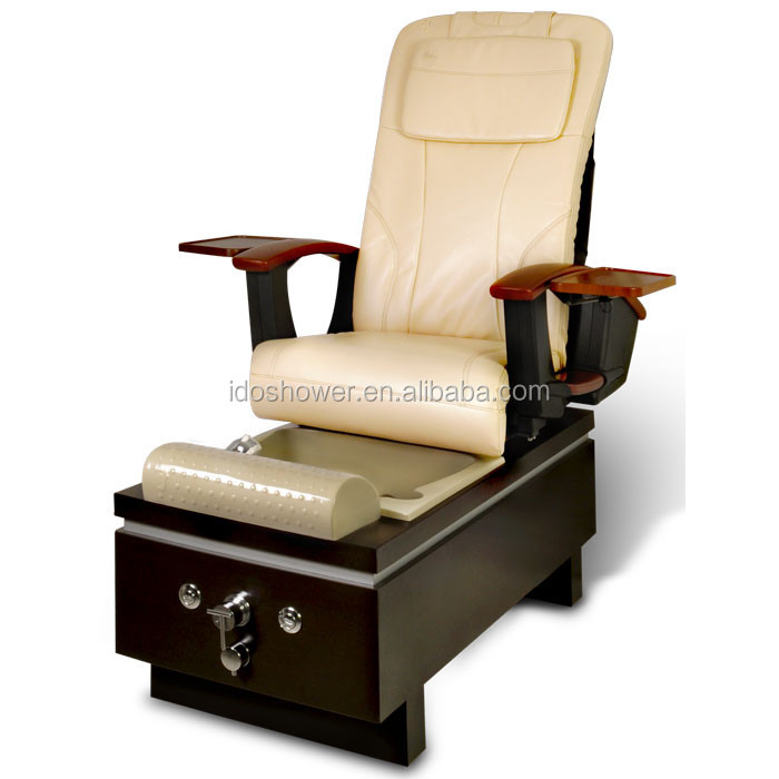 Unique and luxury style wooden base foot massage sofa spa for Nail salon benches