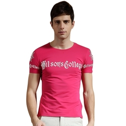 Hot ! 5 Colors Men Casual T-shirts Slim Fit Tops Short Sleeve Man Summer Tees Hip Hop Tshirt Camisetas Masculinas LC04025