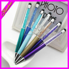 New fashional metal white crystal diamond new ball pen / promotional ball pen /good quality ball pen