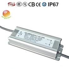 CE SAA ETL TUV Factory direct sales PF0.98 EFF88% five years warranty waterproof ip67 led power supply 12v 120w