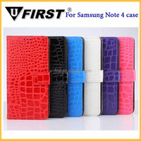 New Style Alligator Pattern Leather Case for Samsung Galaxy Note 4 N9100