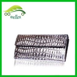 New design silver wallet women wallets crocodile wallet