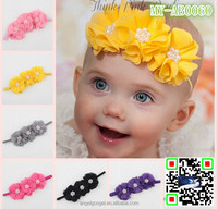 2015 Baby girl hair accessories various flower elastic headband for kids handmade baby headbands MY-AB0060