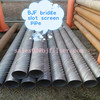 manufacture hot sale strainer pipe bridge slot screen pipe