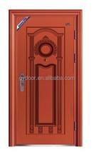 Luxury Italian steel security doors, baking varnish copper finished steel security door for home houses and living room designs