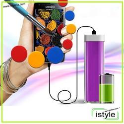 For beautiful women lipstick design mini best selling power bank 2600mah