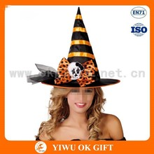 coloful hatband and bowknot around witch hat, Sex witch cosplay, filter witch hat