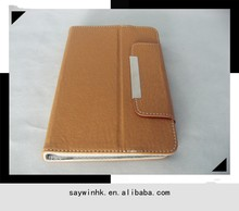 8 inch tablet universal cover case in Cocoa Brown leather with excellent craftsmanship and soft feeling