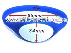 Embossed Printing RFID Make a Wristband, RFID Silicone Bracelets