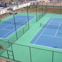 Professional pvc coated metal green chain link fence game fence