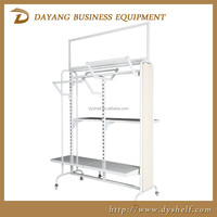 Hot sell Customized modern wood metal clothing display rack for retail store