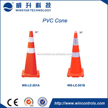 """20"""" and 28"""" heavy duty rubber base waterproof retractable traffic cone"""