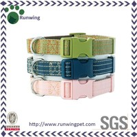 Various Luxury Colorful Canvas Dog Collar