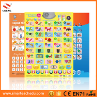 Most Popular Wall Chart Story Talking Machine With Led Light Sound Books