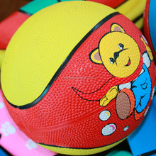 Contemporary hot sell colorful mini size 3 rubber basketball