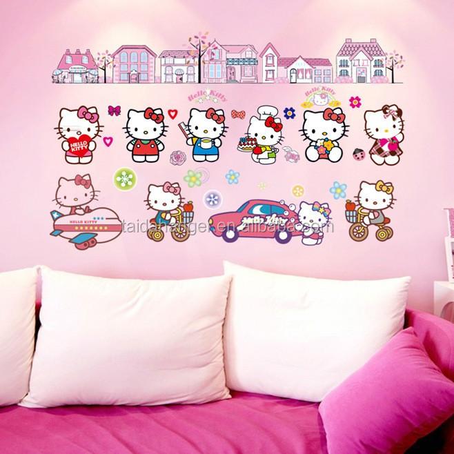 헬로 키티 벽 스티커 크리스마스 장식 핑크 드림 옷장 스티커 ...