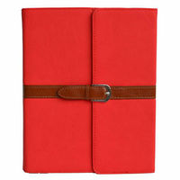 Pu Leather Case Cover with Leather Belt+buckle for Apple the New Ipad 2&3&4 (Red)