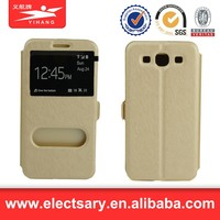 Leather Flip View Window Smart Cover Case For S3 MINI I8190