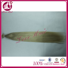 """22"""" Remy Keratin Stick tip/I-tip hair Human Hair Extensions #60 white blonde 1g/s Silky Straight"""