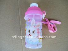 plastic children water bottle with straw