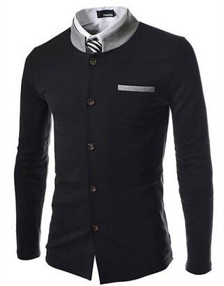 HTB1LkLyFVXXXXc8XVXXq6xXFXXXe - Fashion Brand Men's spell color Collar Slim Fit Blazer Suits (without Shirt and Tie) (Asia Size)