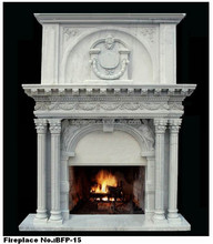 Indoor Large Carving Statue Stone Wall Mounted Electric Fireplace
