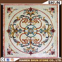 Marble Mosaic Stone Tile Wall Mural Floor Inlay,marble mosaic pattern, Decor Medallion Floor Art
