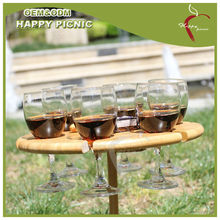 Bamboo wine table for outdoor