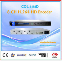 Popular 8 in 1 Encoder HD with HD MI 8 ch, H.264 IPTV Encoder Support TS mux COL5181D