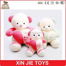 chinese factory colourful plush teddy bear with heart OEM soft teddy bear plush toy stuffed teddy bear toy for lovers