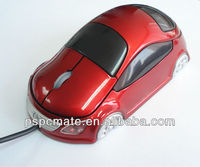 3d car shaped promotional wired mouse