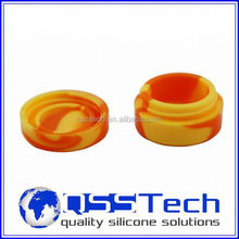 Hot sale cured 3ml aluminium foil seal jar/ silicone customized bho oil container/ silicone bho container