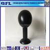 PVC Cheap Black Mannequin Head Long Neck, QFL Inflatable Mannequin