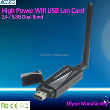 Factory High power 802.11a 600mbps wifi 802.11a 2.4ghz / 5ghz wireless usb lan adapter dual band 5.8G wifi dongle