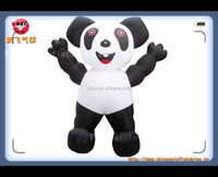 high quality customized panda carton inflatable model for advertisement
