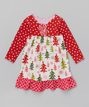 Shopping online red dot bianco stampa albero di natale di design fantasia abito bambina z-gd80724-20