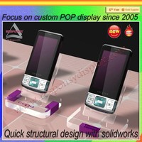online store plastic cell phone holder/acrylic mobile phone display stand