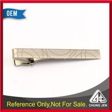 Custom wholesale metal mat nickle tie bar/tie clips