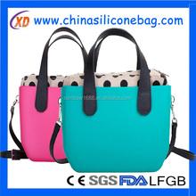Silicone handbag/Silicone Shoulder Bag/shpping Bag For Girl ladies women