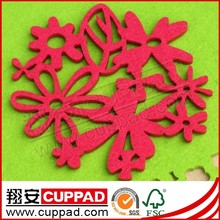 2015 Hot sell custom felt coaster,felt drink coaster in Xiangan factory cheap price
