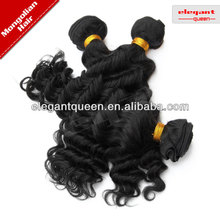 wholesale 8~36 inches 100% unprocessed virgin Mongolian remy human hair tangle free deep wave