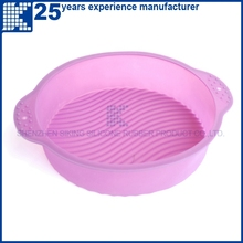 Popular Eco-friendly round or flower shaped silicon cake mould,baking pan