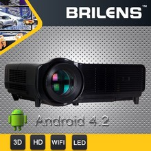 Vicky cheap 2800 lumens portable android 4.2.2 WIFI led home mini cinema projector