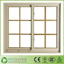 Aluminum Horizontal Sliding Window Wooden Frame Sliding Windows PVC Sliding Windows