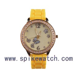 Good Quality Lady Women Fashion Crystal Diamond Silicone Watch