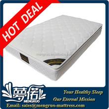 luxury pillow top latex pocket coil spring mattress