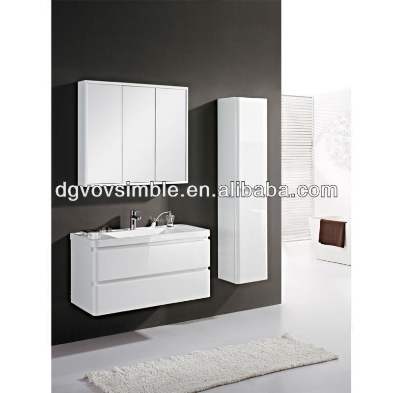 Estantes Para Baño De Madera: clásico de madera cuarto de baño del gabinete del espejo con estante